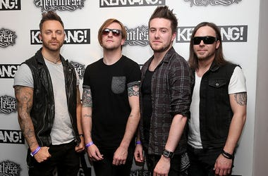 Matt Tuck, Michael Thomas, Jason James and Michael Paget of Bullet for My Valentine
