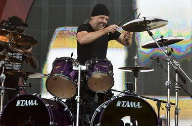 Drummer Lars Ulrich of Metallica performs at the 2016 Global Citizen Festival held in New City's Central Park in New York