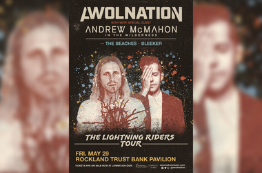 Awolnation and Andrew McMahon, the Lightning Riders Tour poster