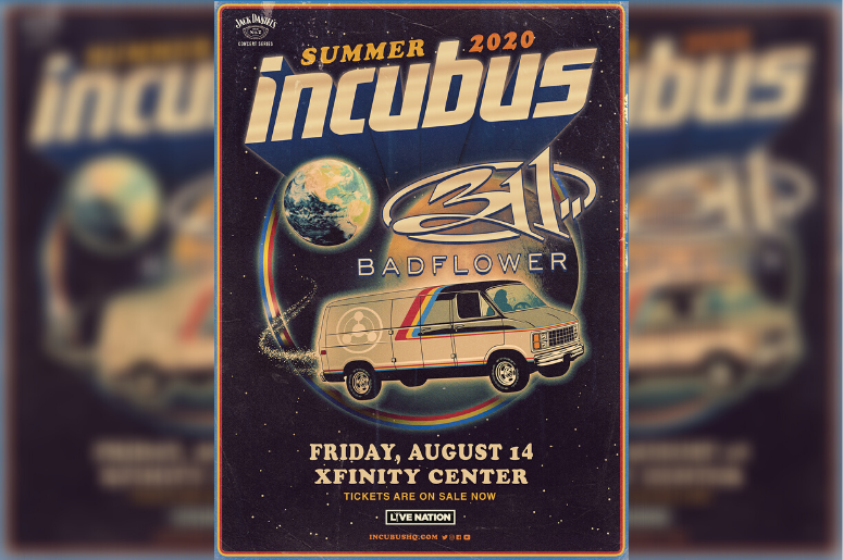 Incubus and Badflower concert poster
