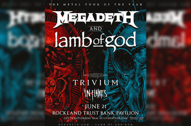 Megadeath live at Rockland Trust Bank Pavilion with Lamb of God