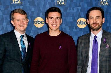 Ken Jennings, James Holzhauer and Brad Rutter Jeopardy