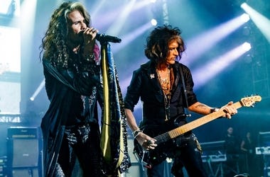 Steven Tyler and Joe Perry perform during Tyler's Second Annual GRAMMY Awards Viewing Party