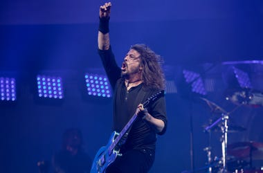 Dave Grohl of the Foo Fighters performs at the Glastonbury Festival site at Worthy Farm in Pilton on June 24, 2017 near Glastonbury, England. Glastonbury Festival of Contemporary Performing Arts is the largest greenfield festival in the world.