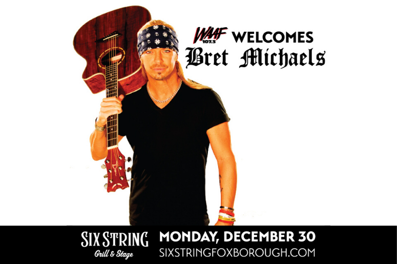 Bret Michaels at Six String Grill  Stage promo poster