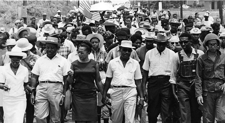 American Civil Rights leaders Dr. Martin Luther King Jr and his wife Coretta Scott King Reverend Ralph Abernathy and his wife, Juanita Abernathy