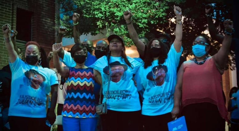 A vigil for Julian Lewis was held after his death in Sylvania GA