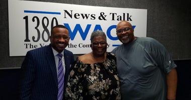 President of Morris Brown Kevin James with Morris Brown Alum Joyce Littel & Derrick Boazman