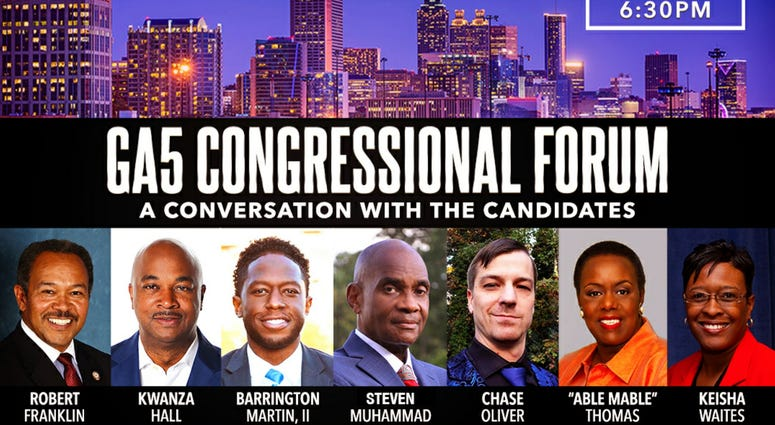 The GA5 Political Forum is being held on September 10 2020 featuring 7 candidates for U.S. Congress