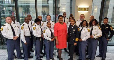 DeKalb County Sheriff Melody Maddox received a Proclamation from President Felicia A. Moore and the Atlanta City Council-1