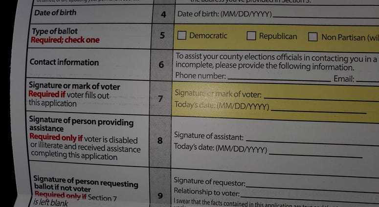 The GA Secretary of State has mailed the Absentee Ballot Request Form to Voters