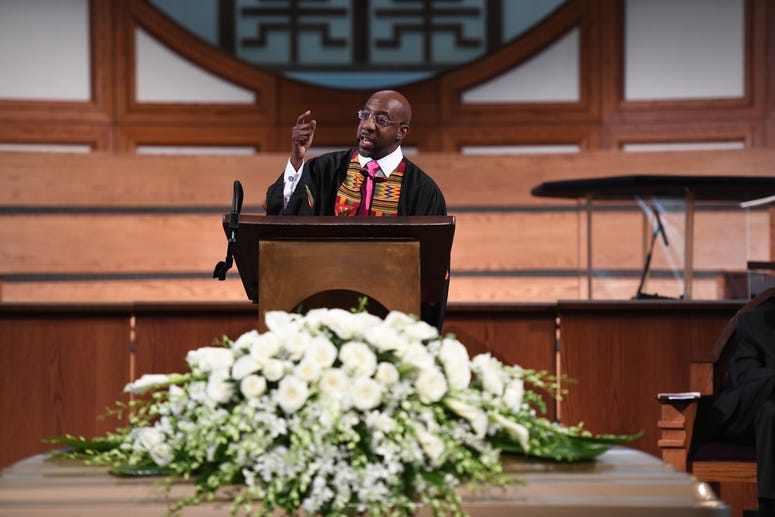 Rev. Dr. Raphael Warnock delivered the eulogy at the funeral for Rayshard Brooks