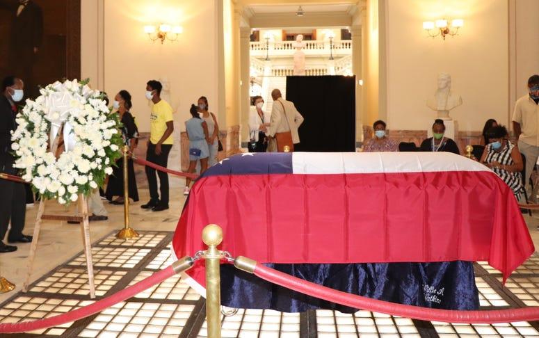 CT Vivian laid in repose at Georgia State Capitol.