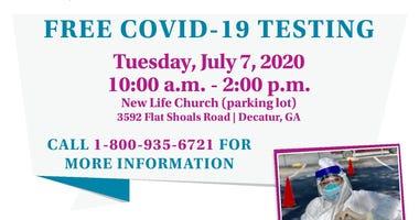 Free COVID-19 Testing at New Life Church