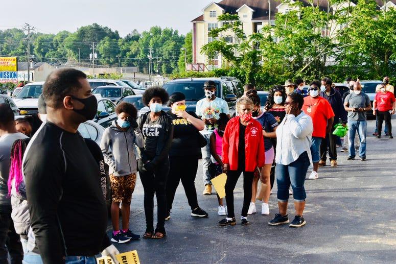 Participants gather for caravan to Brunswick, GA