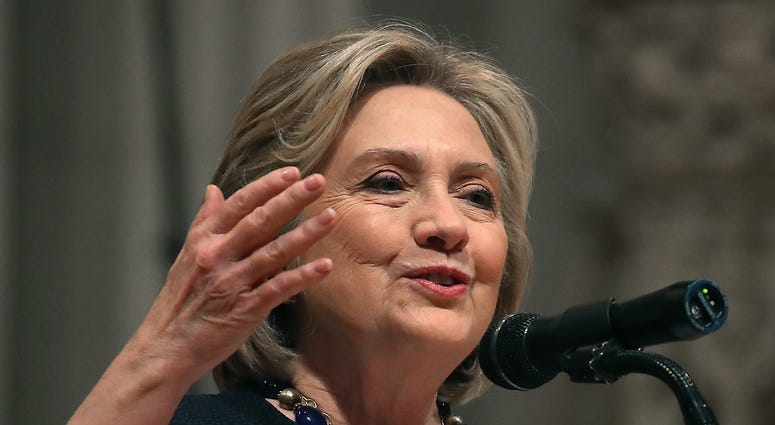 Hillary Clinton speaking at about former Rep. Ellen Tausher in Washington D.C.