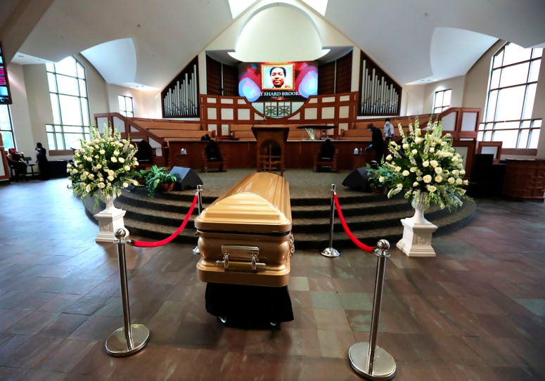 Rayshard Brooks was laid to rest in a gold casket