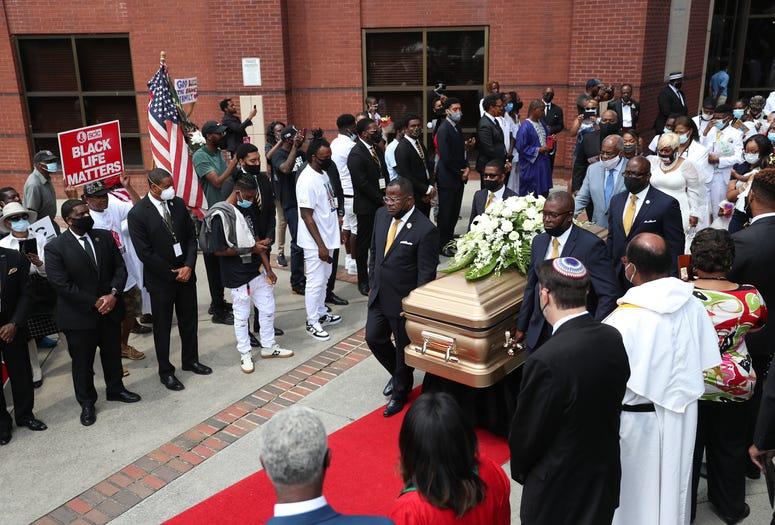 The Rayshard Brooks funeral processional exits Ebenezer Baptist Church