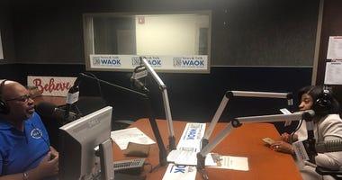 Too Much Truth Host Derrick Boazman with Judge KIm Bandoh inside WAOK Studios