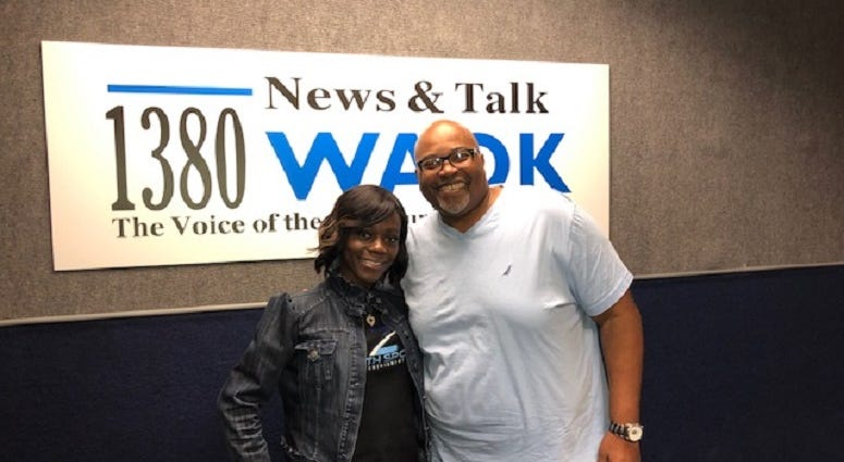 Derrick Boazman with Sports Agent Tiffany Porter