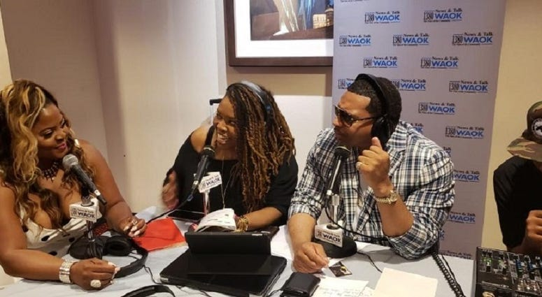 Actress Brely Evans with Rashad Richey & Justyn Joy