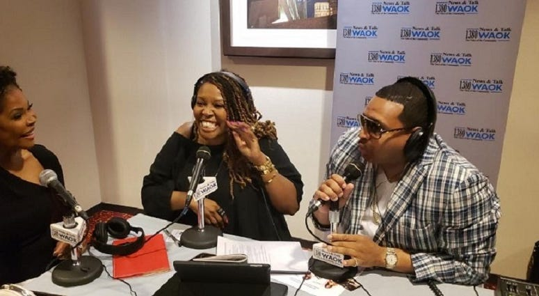 Actress Angela Robinson with Rashad Richey and Justyn Joy
