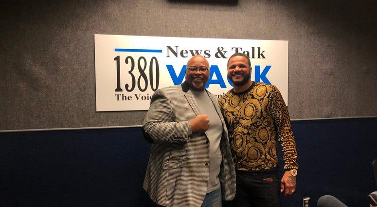 Derrick Boazman with Anthony Direll at WAOK
