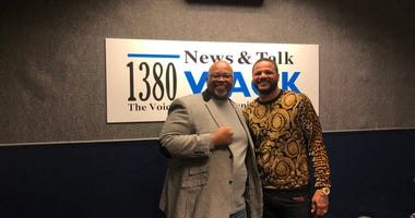 Derrick Boazman with Anthony Direll at WAOK