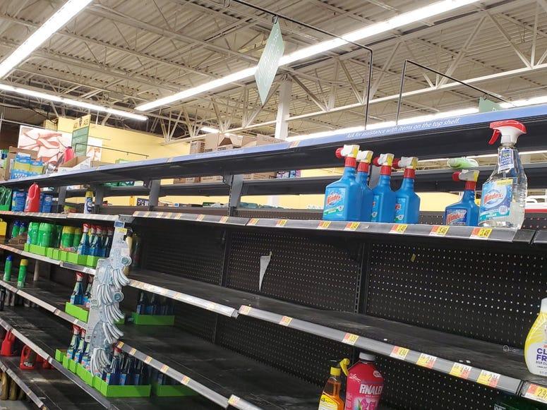 Empty Shelves-Walmart in Cobb County-2