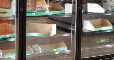 Empty Shelves-Walmart in Cobb County-3
