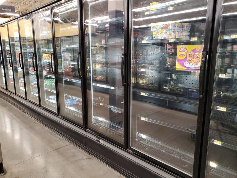 Empty Shelves-Walmart in Cobb County-1