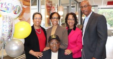 William T. Robie celebrates his 100th birthday