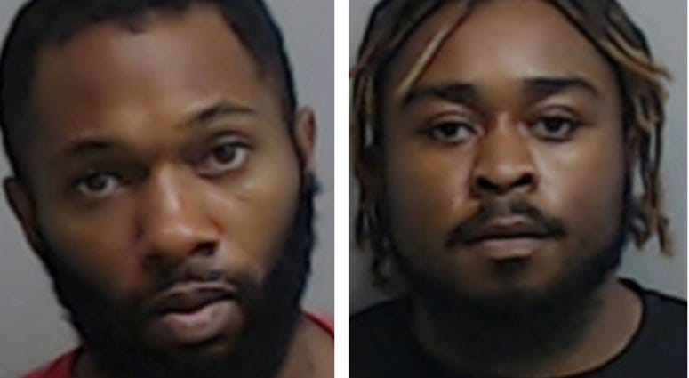 John Wesley Wade and Chisom Kingston. are charged with 1st Degree Arson for the fire at the Wendy's in Atlanta