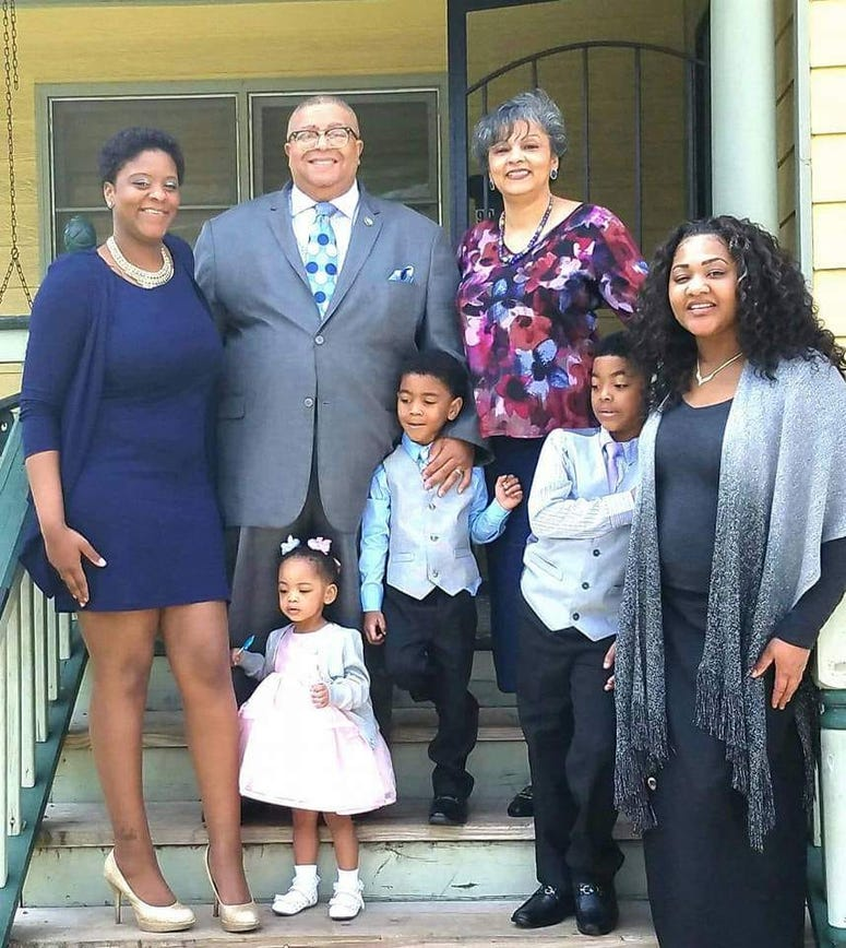 The late Atlanta City Councilman Ivory Lee Young is shown with his family.
