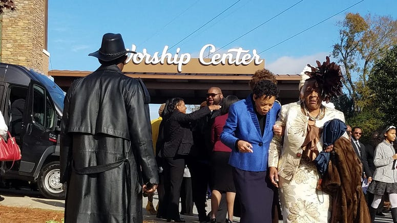 Thousands said a final 'goodbye' to Kim Porter in Columbus, GA Saturday