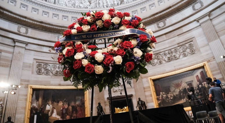 U.S. Congressman John Lewis lies in state at the U.S. Capitol in Washington D.C.