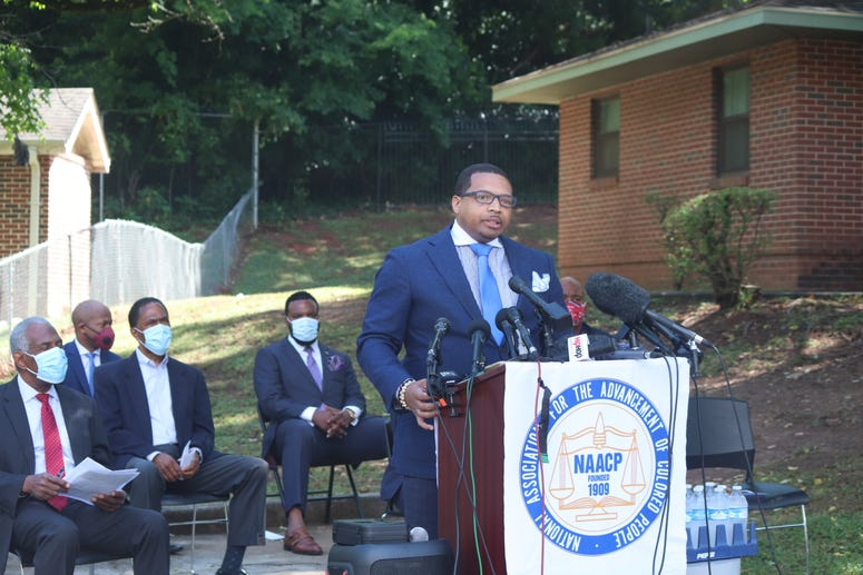 "Multi-media personality Dr. Rashad Richey told Tuesday's Ahmaud Arbery news conference ""as members of the media we have an awesome responsibility to tell stories that others don't."""