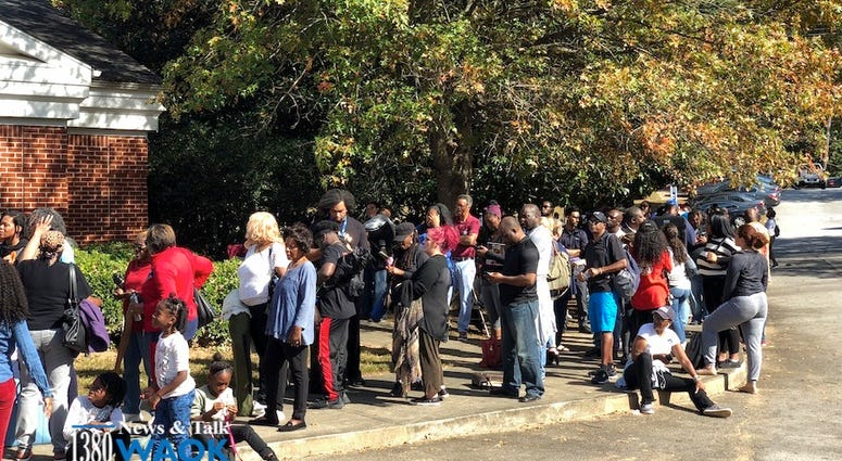 Line For Tickets To See President Obama