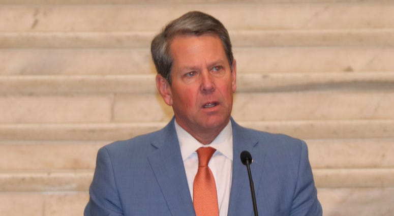 Georgia Governor Brian Kemp at the 2020 State MLK Service