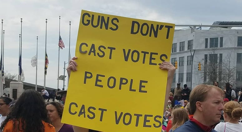 More than 50 thousand demonstrators marched to the State Capitol to protest gun laws