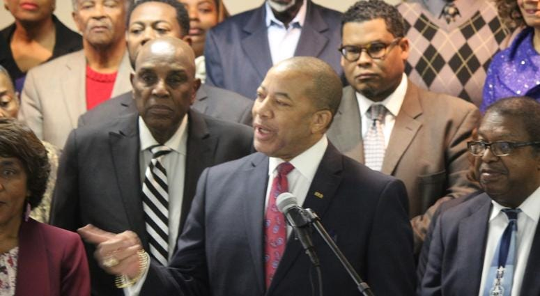 Press Conference regarding the Fulton County Commission stopping federal funding in South Fulton-12