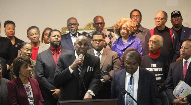 Press Conference regarding the Fulton County Commission stopping federal funding in South Fulton-6