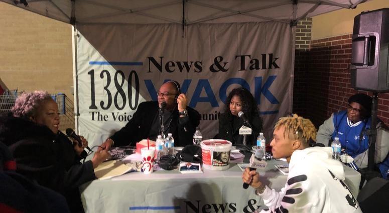 Derrick Boazman, Gabby Bell with Elisabeth Omilami, and Tron Austin