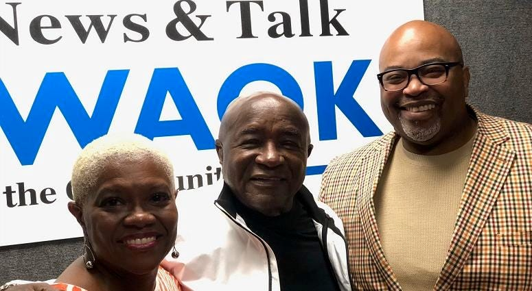 Derrick Boazman with Pam Ware and Carl Ware