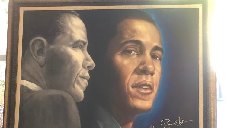 President Barack Obama Piece by Gilbert Young