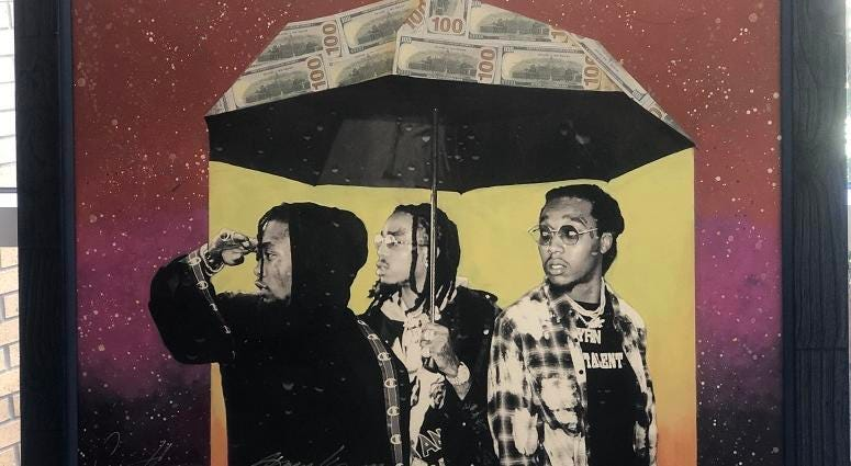 Migo's Art Piece done by Gilbert Young in Collaboration with Cam Kirk