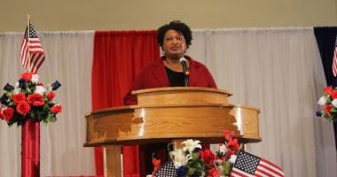 Stacey Abrams' Speech Honors Military Women on Veterans Day