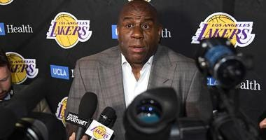 Magic Johnson resigned as Lakers' team president in April.
