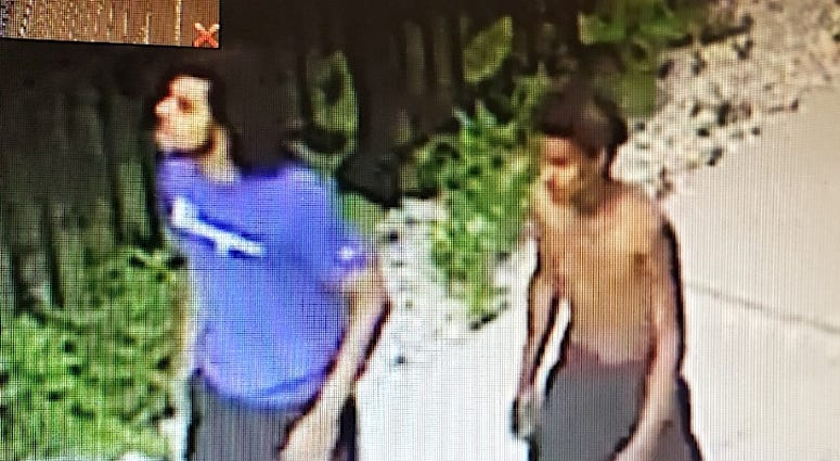 Police say these two men are wanted for attempting to rob a woman in Old Town on July 24, 2019.