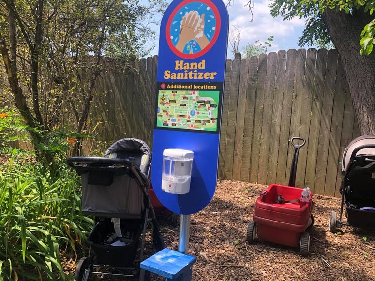 Brookfield Zoo Hand Sanitizing Station